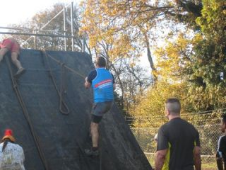 Going over the wall at the Spartan Beasts Challenge
