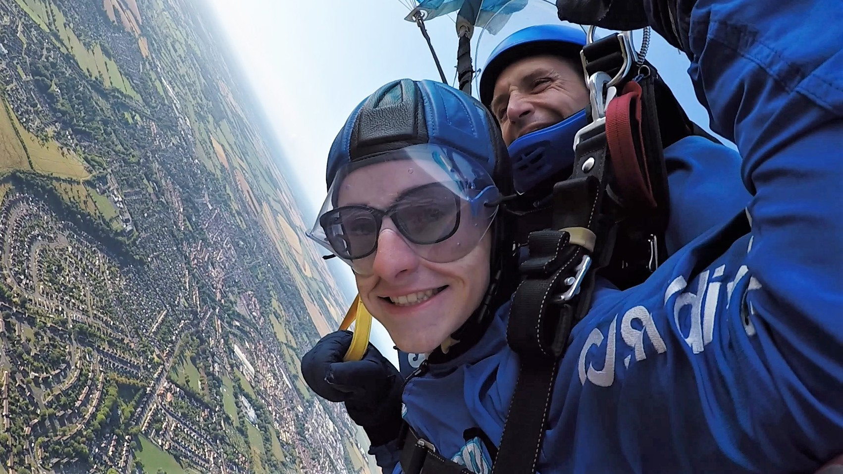 Nathan's previous sky dive for charity